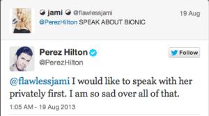 "Perez Hilton Confesses to Christina Aguilera ""Sabotage"""